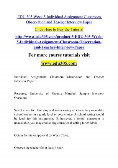 teacher observation essay