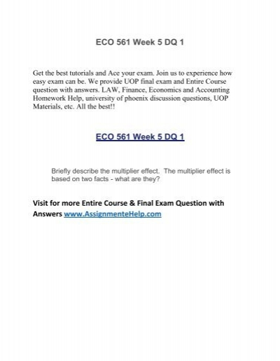 eco 561 week 5 Description eco 561 week 5 comparative and absolute advantage eco 561 week 5 comparative and absolute advantage develop a 1,750-word analysis of the international economy in which you do the following:.