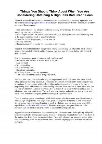high risk credit loans - 2