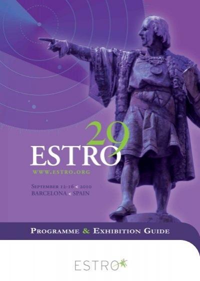 September 12-16 < 2010 BaRcElOna < Spain     - Estro-events org