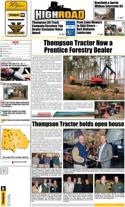 Thompson Tractor Now a Prentice Forestry Dealer