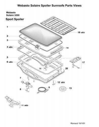 Webasto Sunroof Parts Diagram Wiring on