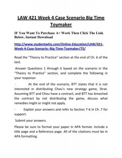 law 421 theory to practice essay