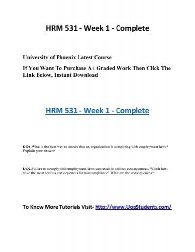 hrm 531 week 2