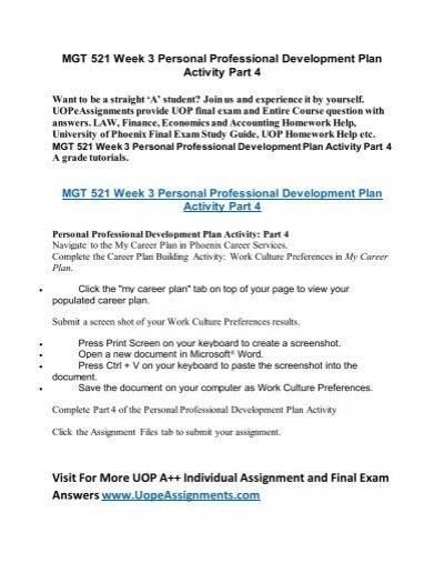 uop course homework help mgt 521 week 3 personal professional rh yumpu com Financial Literacy Personal Finance Tips