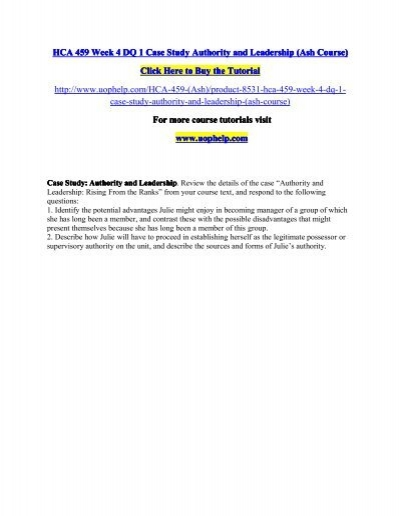 mgt 301 module 1 case study