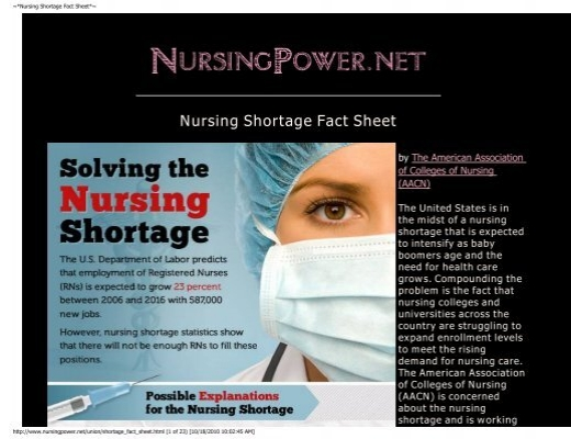 the issue of nursing shortage in the united states The nursing shortage through review of literature it is easy to see that the nursing shortage is not confined to the united states but is a widespread issue.