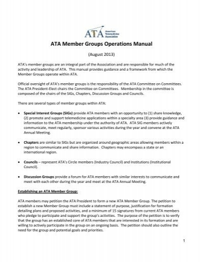 ata member groups operations manual rh yumpu com