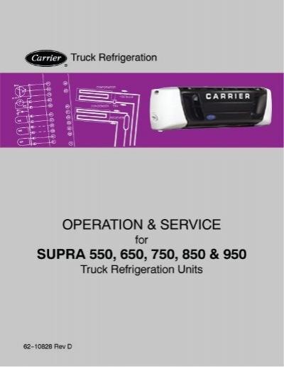 Carrier supra 850 service manual treadmill