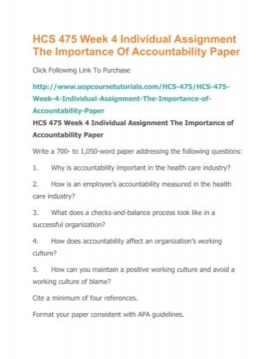 accountability in the healthcare industry