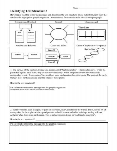 identifying text structure 3