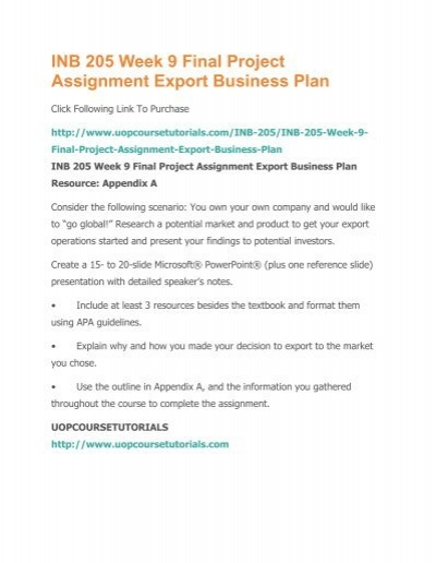 export business plan powerpoint