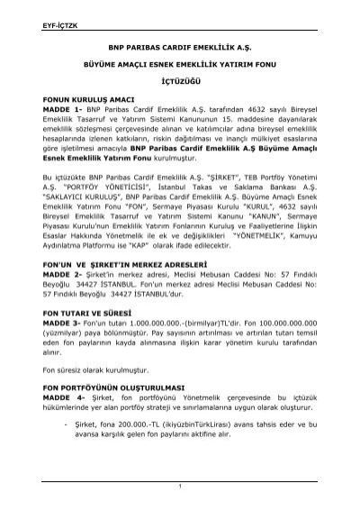 İçtüzük - BNP Paribas Cardif Emeklilik