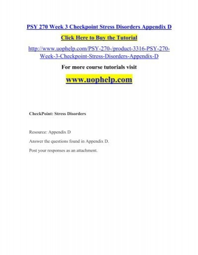 psy 270 appendix g Uophelp is a online tutorial store we provides psy 270 week 7 dq 1 and dq 2.