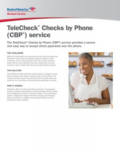 how to pay telecheck online