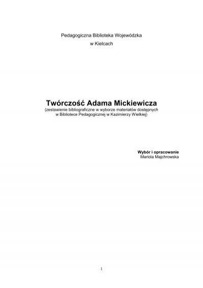 Twórczość Adama Mickiewicza