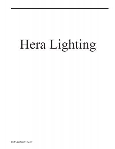 Hera Lighting