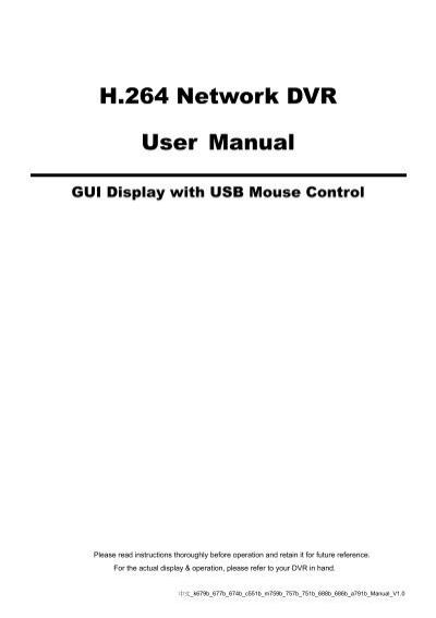 manual dvr luxvision h 264 pdf