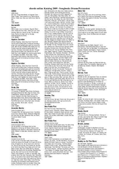 Chords Online Katalog 2009 Songbooks Tasten