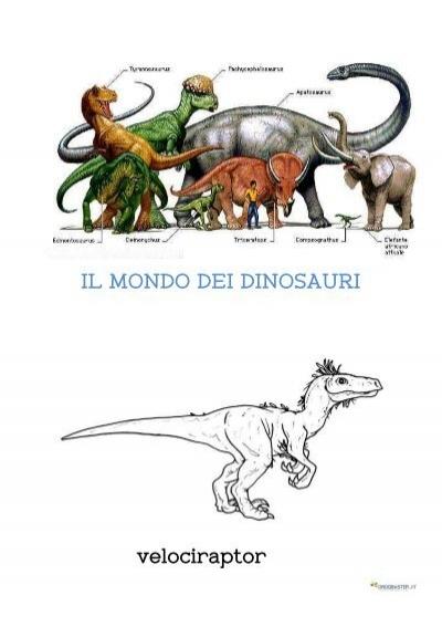 Il Mondo Dei Dinosauri Velociraptor