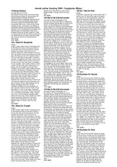 Chords Online Katalog 2009 Songbooks Bläser
