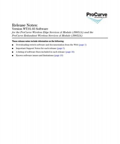 HP ProCurve Redundant Wireless Services Module J9052A