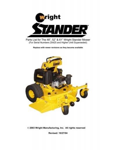 parts list for the wright stander 32 u201d 36 u201d 42 u201d and 48 u201d wss mower rh yumpu com wright stander service manual wright stander service manual