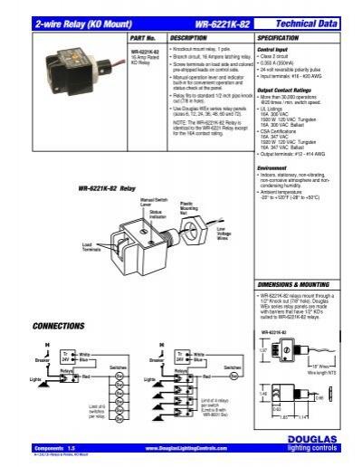 2 wire relay ko mount wr 6221k 82 technical data noncondensing rh yumpu com
