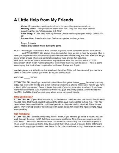 A Little Help from My Friends