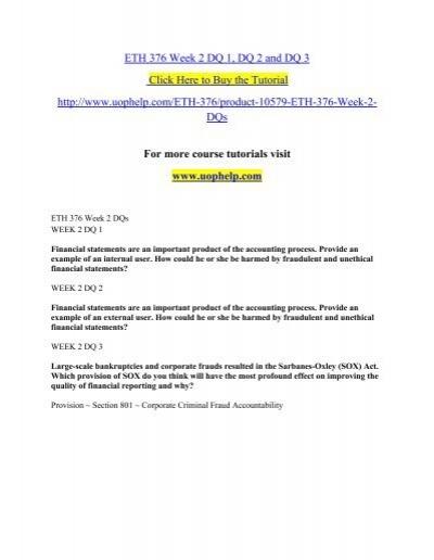 eth 125 week 5 assignment