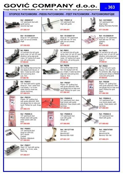 """Low Shank 1//4/"""" Clear Patchwork Foot With Guide #P60604-G For Sewing Machine"""