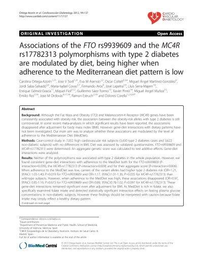 dieta de diabetes mc4r