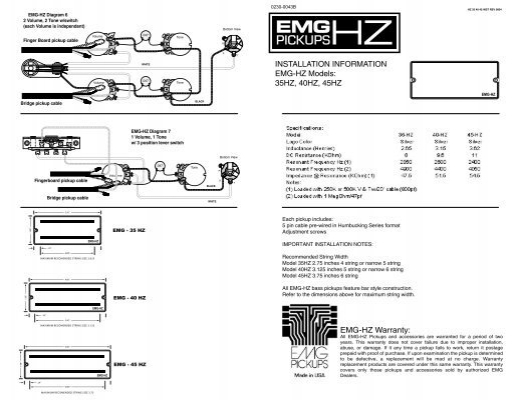 Emg Hz Wiring Diagrams