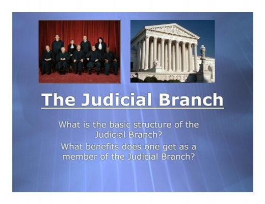 a discussion on the judical branch of the government A branch may use its powers to check the powers of the other two in order to maintain a balance of power among the three branches of government legislative - makes laws congress is composed of two parts: the senate and the house of representatives.