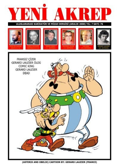 Asterix And Obelix Cartoon By Gerard Lauzier France