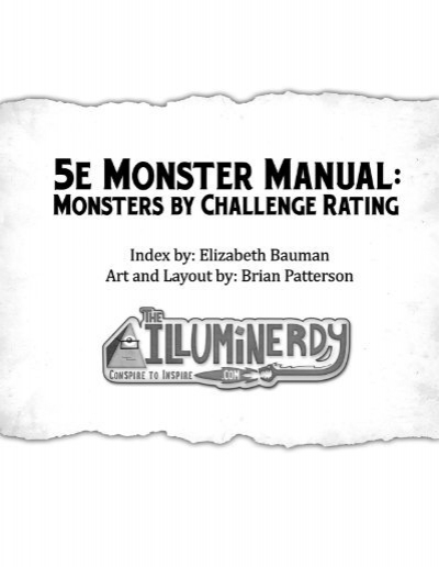 dnd 5e monster manual pdf