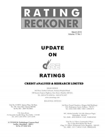 Rating Reckoner Dec 09 - CARE Ratings