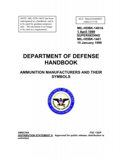 MIL-HDBK-1461A 1 April 1999 SUPERSEDING MIL     - NVBMB