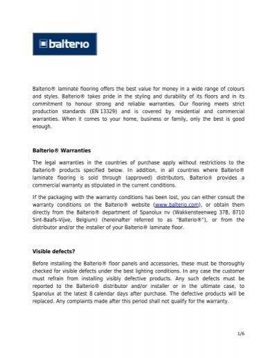 Pdf Balterio Laminate Flooring