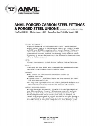 Anvil forged carbon steel fittings unions