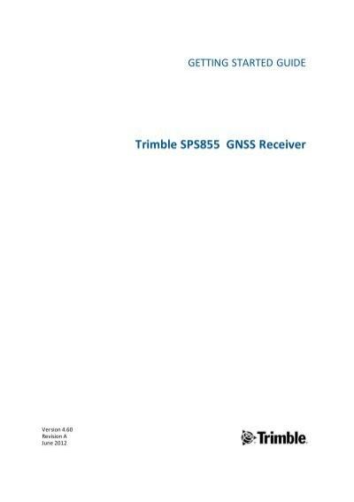 Trimble sps855 modular gps receiver getting. Measutronics.