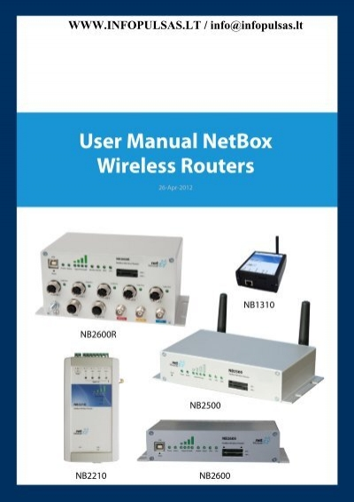 User Manual NetBox Wireless Routers