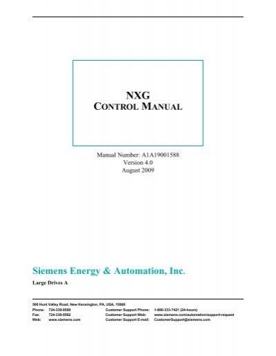 Nxg Control Manual