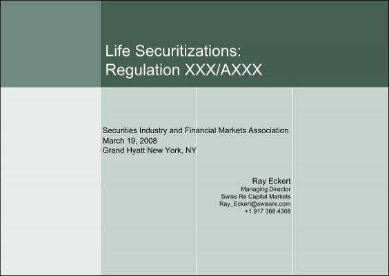 Regulation Xxx 119