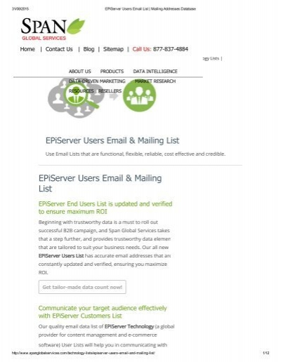 Get Customized EPiServer User List from Span Global Services
