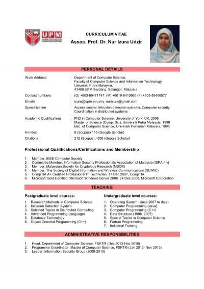 Assoc Prof Dr Nur Izura Udzir