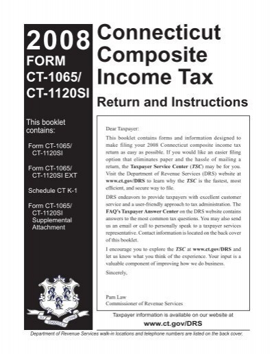 Ct 1065ct 1120si Instructions Connecticut Composite Ct