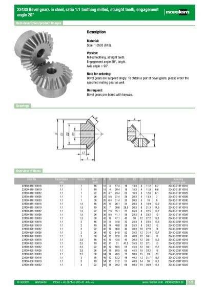 Bevel gear made of steel module 0.5 40 teeth i=2:1 milled