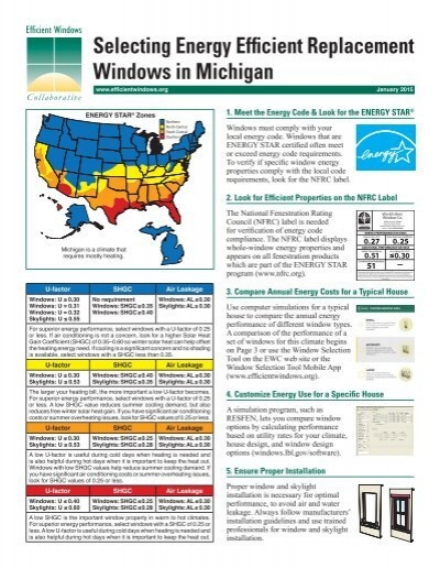 Selecting energy efficient replacement windows in michigan for Energy efficient replacement windows