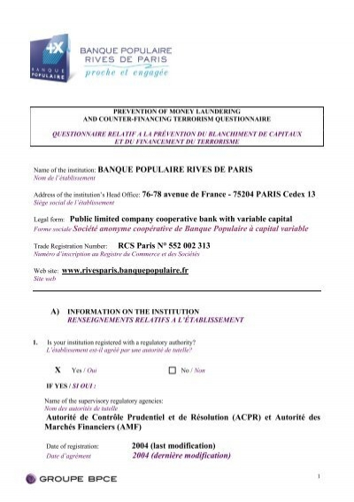 En Cliquant Ici Banque Populaire Rives De Paris